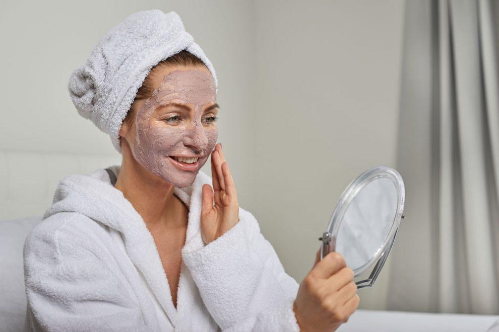 Gesichtsmaske trockene Haut