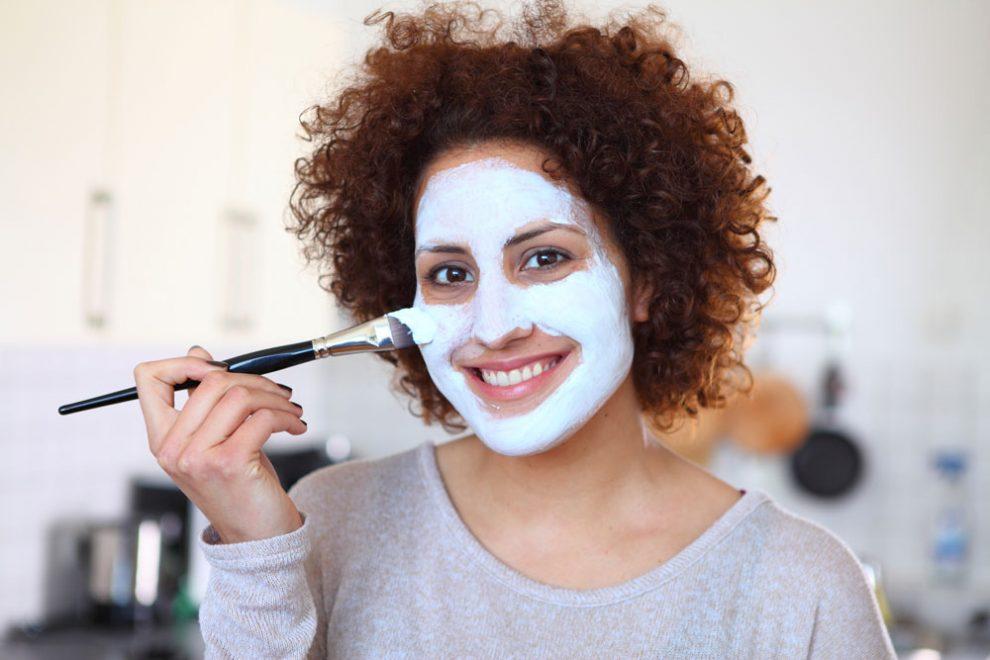 Gesichtsmaske für fettige Haut selber machen