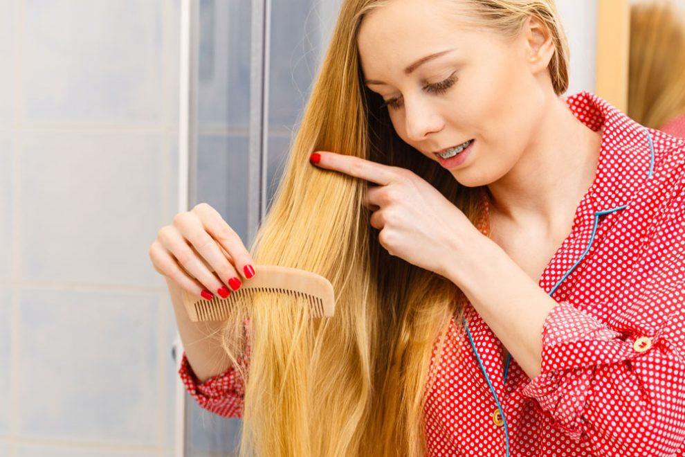 glänzende Haare