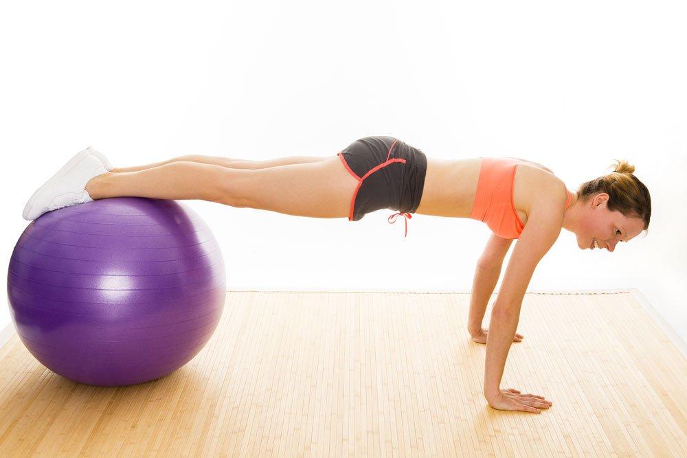 Beimnlift mit Gymnastikball