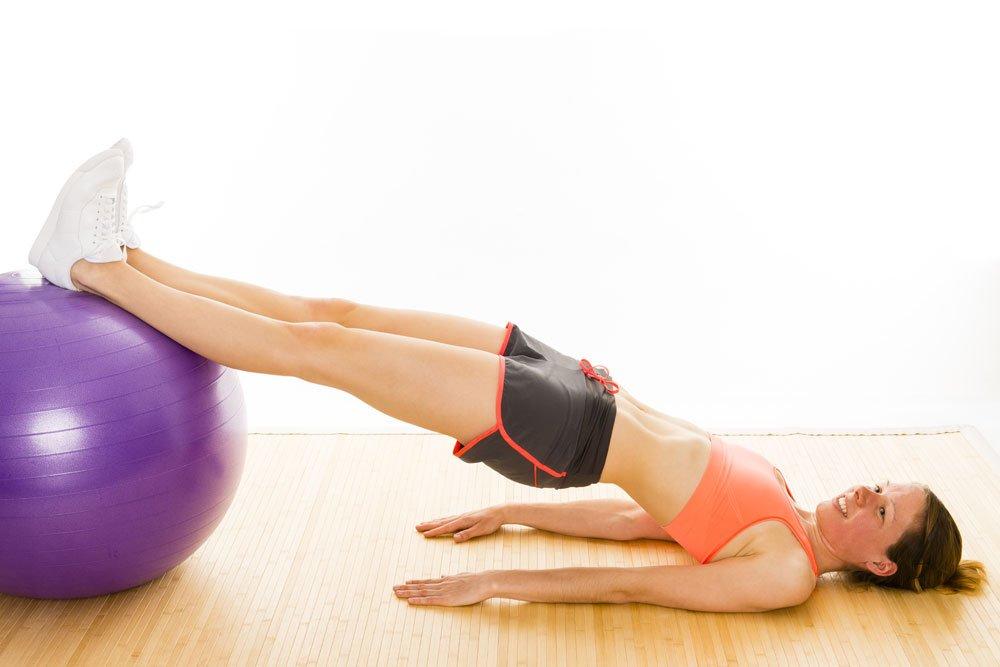 Gymnastikballübungen Beckenkippen